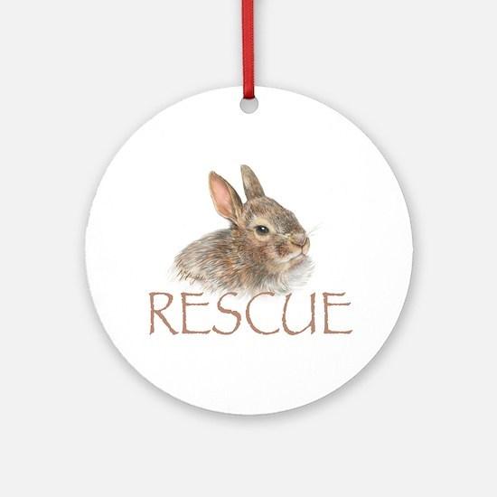 Bunny rabbit rescue Ornament (Round)