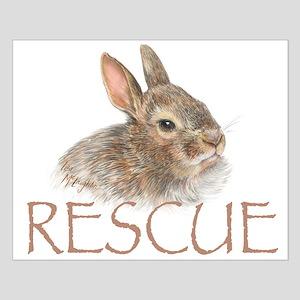 Bunny rabbit rescue Small Poster