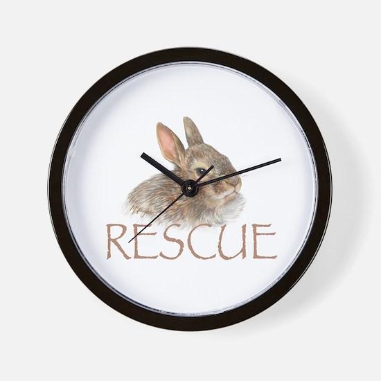 Bunny rabbit rescue Wall Clock