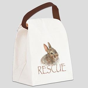 Bunny rabbit rescue Canvas Lunch Bag