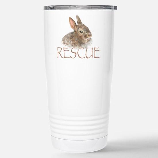 Bunny rabbit rescue Stainless Steel Travel Mug