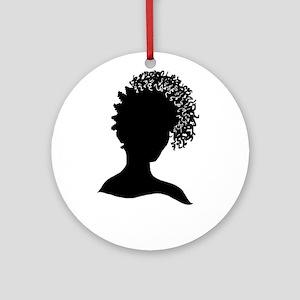 Pretty Girl Loc'd Ornament (Round)