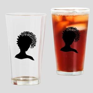 Pretty Girl Loc'd Drinking Glass