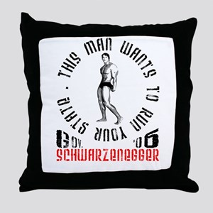 Schwarzenegger Throw Pillow