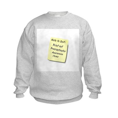 Procrastinators Kids Sweatshirt