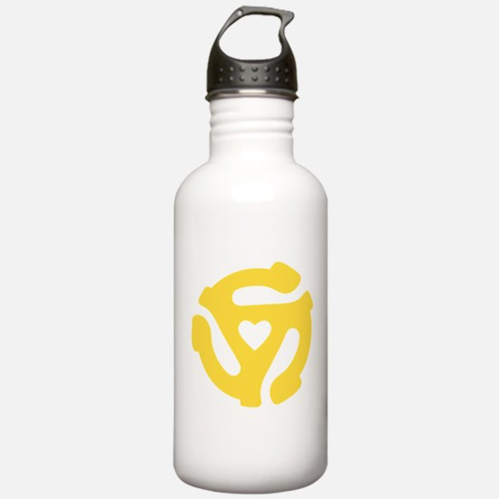 45 Record Adapter Water Bottle