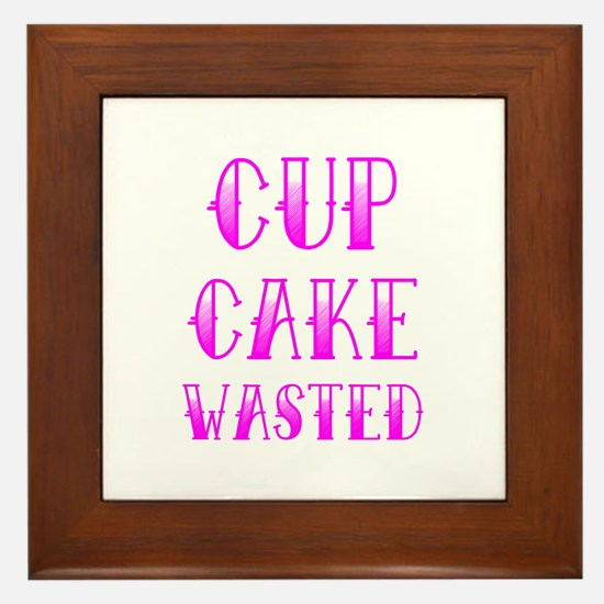 Cupcake Wasted Framed Tile