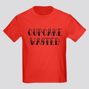 Cupcake Wasted Kids Dark T-Shirt