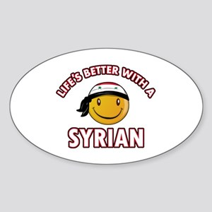 Lifes better with a Syrian Sticker (Oval)