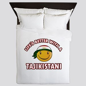 Lifes better with a Tajikistani Queen Duvet