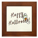 Happy Halloween Ghost Framed Tile