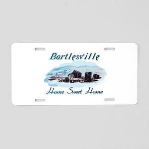 Bartlesville Home Sweet Home Aluminum License Plat