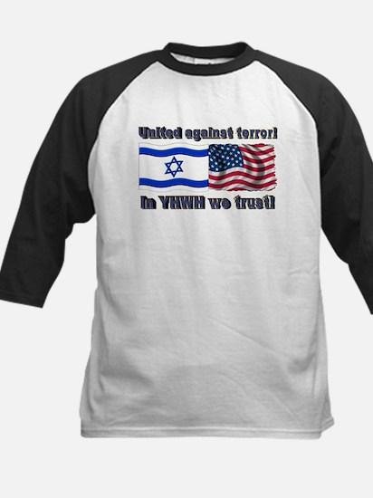 United against terror! Kids Baseball Jersey