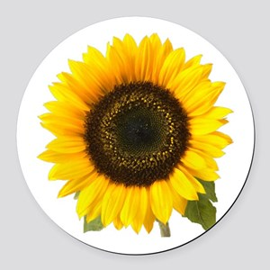 Sunflower Round Car Magnet