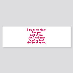 Point of View Bumper Sticker