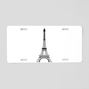 Eiffel Tower Black Aluminum License Plate