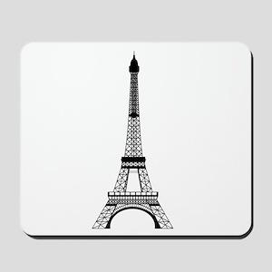 Eiffel Tower Black Mousepad