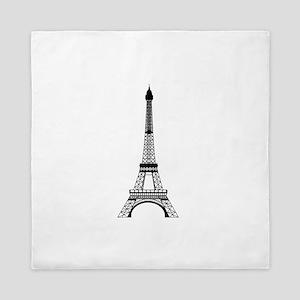 Eiffel Tower Black Queen Duvet