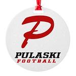 Pulaski Football Round Ornament