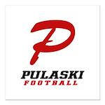 Pulaski Football Square Car Magnet 3