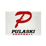 Pulaski Football Rectangle Magnet (100 pack)