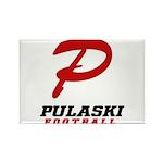 Pulaski Football Rectangle Magnet (10 pack)