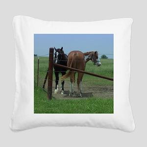 March Square Canvas Pillow
