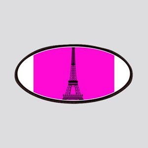 Eiffel Tower Pink and Black Patches