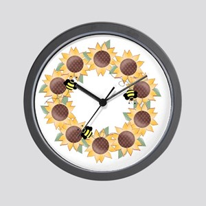 Sunflower Wreath Ring Wall Clock