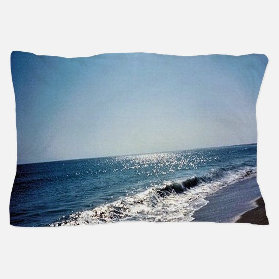 Wave Rolling Onto Beach Pillow Case