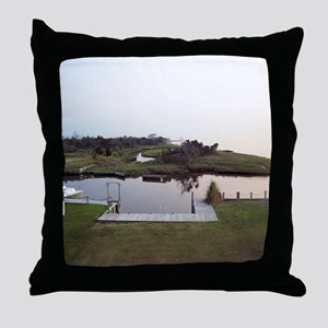 Waterfront View (With Dock) Throw Pillow