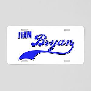 Team Bryan Aluminum License Plate