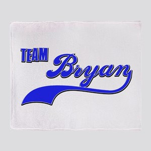 Team Bryan Throw Blanket