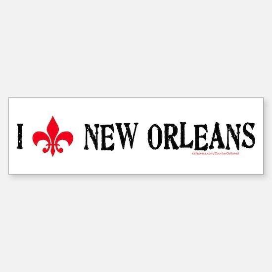 Love New Orleans! Bumper Bumper Bumper Sticker