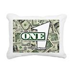 Rectangular Canvas Pillow (white) 3