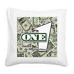 Square Canvas Pillow (white) 3