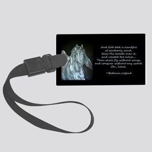 Legend of the Horse Large Luggage Tag