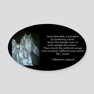 Legend of the Horse Oval Car Magnet