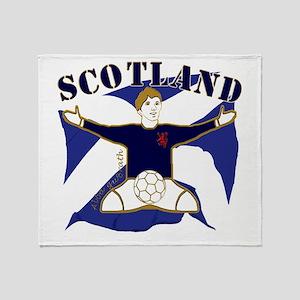 Scotland Saltire Footballer Celebrate Stadium Bla