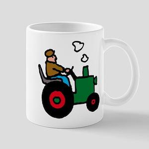 farmer on tractor Mug