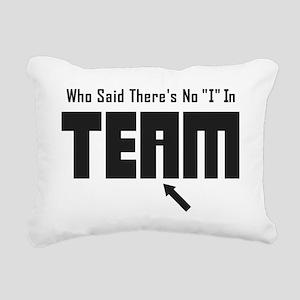 I In Team Rectangular Canvas Pillow