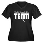 I In Team Women's Plus Size V-Neck Dark T-Shirt