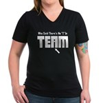 I In Team Women's V-Neck Dark T-Shirt