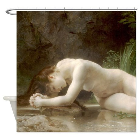 William-Adolphe Bouguereau Biblis Shower Curtain