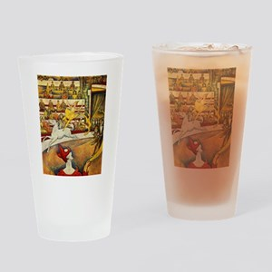 Georges Seurat Circus Drinking Glass