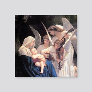 """Bouguereau Song Of The Angels Square Sticker 3"""" x"""