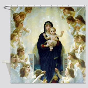 Bouguereau The Virgin With Angels Shower Curtain