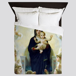 Bouguereau The Virgin With Angels Queen Duvet
