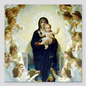 Bouguereau The Virgin With Angels Square Car Magne