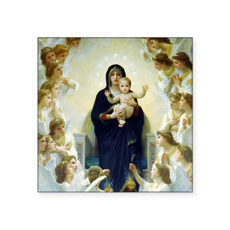 Bouguereau The Virgin With Angels Square Sticker 3